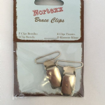 BC/1 Braces Clip: Nickel - 5 x 1 pair